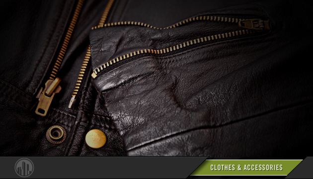 Photo of a leather jacket. Login to find savings on clothes & accessories.