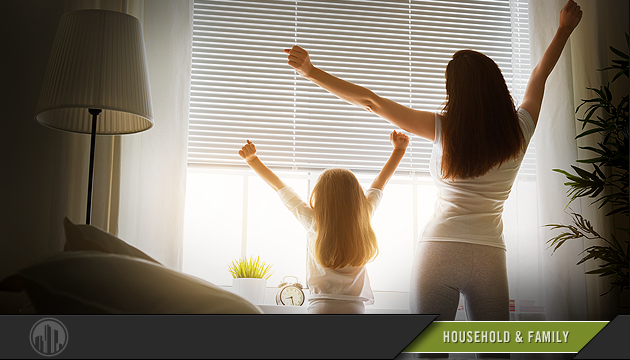 Photo of a mother and daughter at home. Login to find savings on services for household & family.