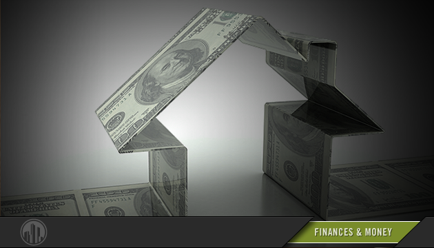 Illustration of a home constructed of $100 bills. Login to find savings on financial services.